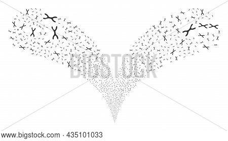Chromosome Twice Fireworks Fountain. Chromosome Explosion Twice Fountain. Object Fountain Constructe
