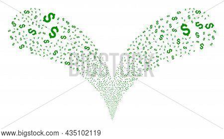 Dollar Price Twice Fireworks Stream. Dollar Price Fireworks Twice Fountain. Object Fountain Is Done