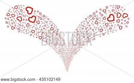 Romantic Heart Twice Fireworks Stream. Romantic Heart Stream Twice Fountain. Object Fountain Is Crea