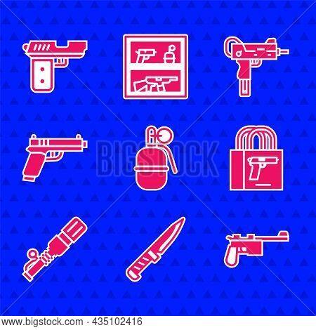 Set Hand Grenade, Military Knife, Mauser Gun, Buying Pistol, Anti-tank Hand, Pistol Or, Uzi Submachi