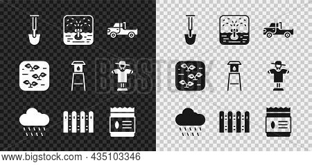 Set Shovel, Automatic Irrigation Sprinklers, Pickup Truck, Cloud With Rain, Garden Fence Wooden, Pac