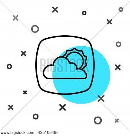 Black Line Weather Forecast Icon Isolated On White Background. Random Dynamic Shapes. Vector