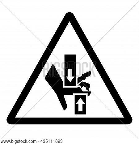 Crush Hand Top Bottom Symbol Sign, Vector Illustration, Isolate On White Background Label .eps10