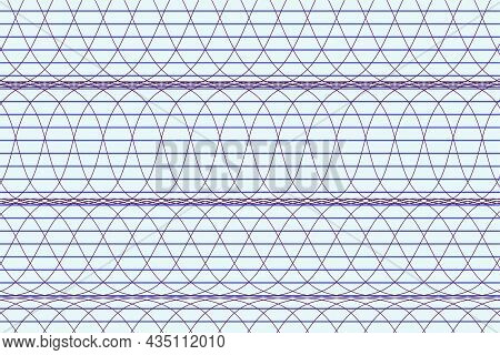 Vector Graphic Of Horizontal Stripe And Electromagnetic Waves Pattern Abstract Background. Striped D