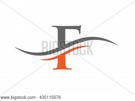 F Logo Design Vector Template. Initial Letter F Logotype For Business And Company Identity