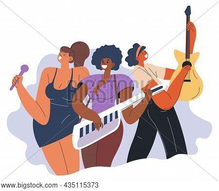 Pop Band, Female Group Popular Women Musicians