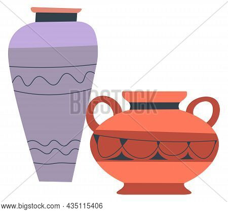 Pots And Jugs Of Clay, Pottery And Ancient Crafts