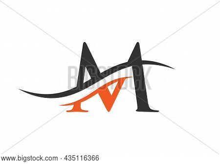 M Logo Design Vector Template. Initial Letter M Logotype For Business And Company Identity