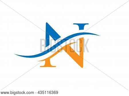 N Logo Design Vector Template. Initial Letter N Logotype For Business And Company Identity
