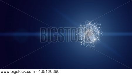 Abstract World Network Connection, Internet And Global Connection Concept. Global World Telecommunic