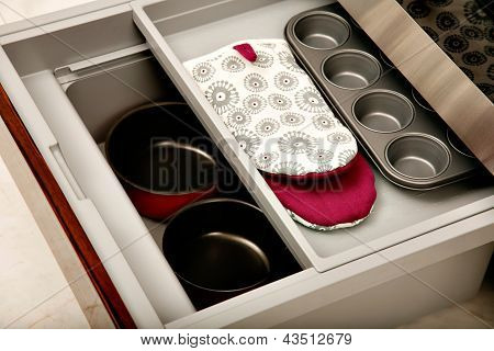 Kitchen Drawer With Compartments