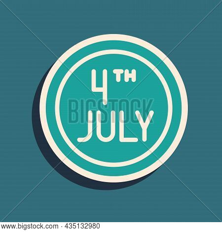 Green Day Calendar With Date July 4 Icon Isolated On Green Background. Usa Independence Day. 4th Of