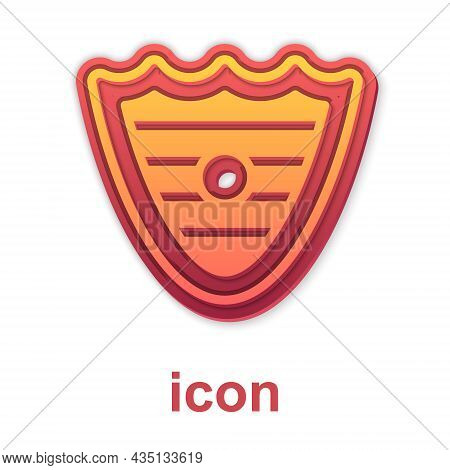 Gold Shield Icon Isolated On White Background. Guard Sign. Security, Safety, Protection, Privacy Con