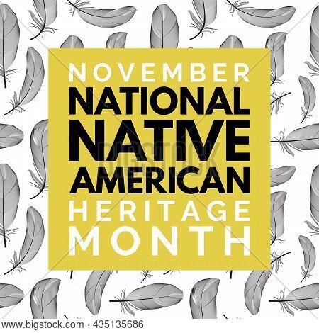November National Native American Heritage Month. Vector Illustration