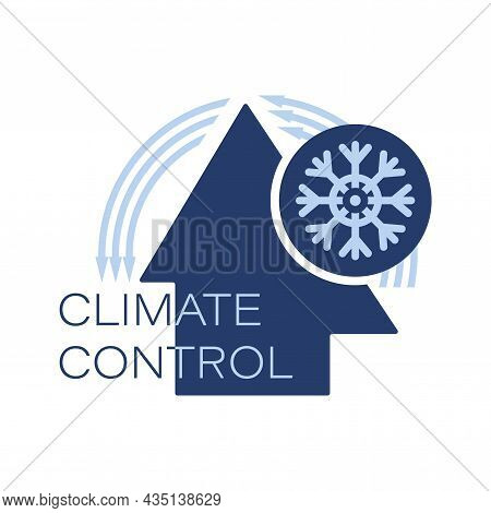 Climate Control. Warming. Logo, Icon. Keeping Warm In The House. Cooling And Heating Systems.