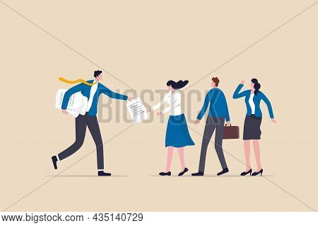 Work Delegation, Manager Distribute Work Assignment To Team Member Colleagues, Assign Tasks, Job Or