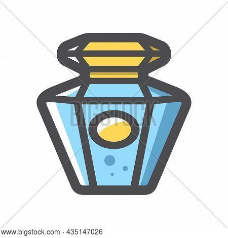 Perfume Vintage Bottle Vector Icon Cartoon Illustration