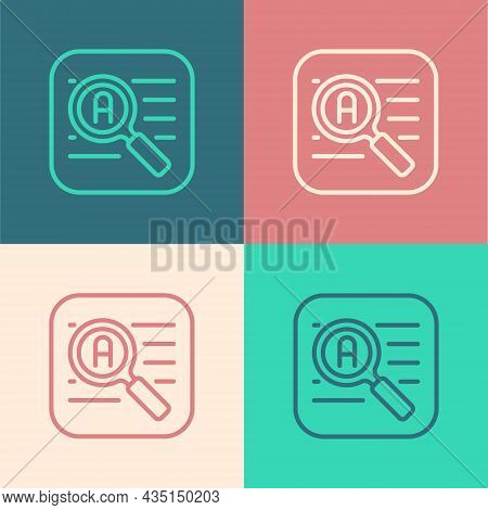 Pop Art Line Translator Icon Isolated On Color Background. Foreign Language Conversation Icons In Ch