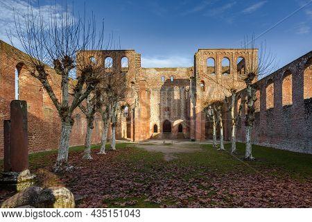Inner Courtyard Of Ruined Monastery Limburg, Bad Duerkheim, Rhineland-palatinate, Germany