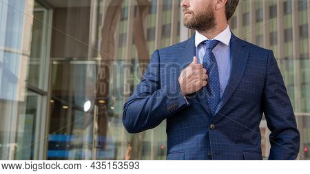 Cropped Businessperson In Formalwear. Business Success. Successful Man In Businesslike Suit.