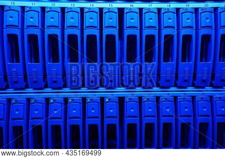 Data Backup Hard Drives From An It Cloud Backup System In A Data Center