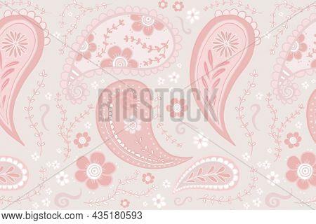 Aesthetic paisley background, pink feminine mandala pattern