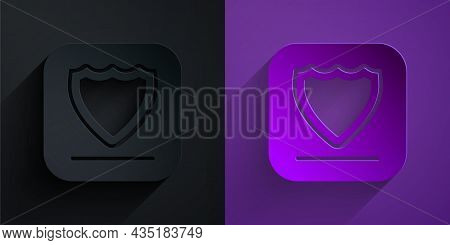 Paper Cut Shield Icon Isolated On Black On Purple Background. Guard Sign. Security, Safety, Protecti