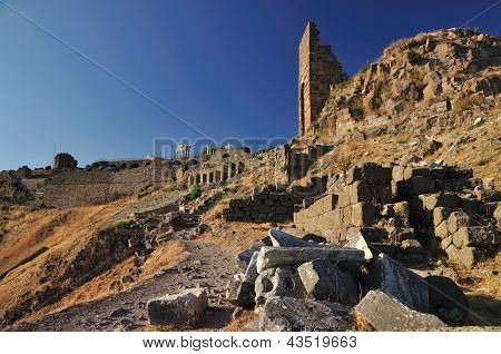 Ancient Greek City Of Pergamon In Bergama, Turkey