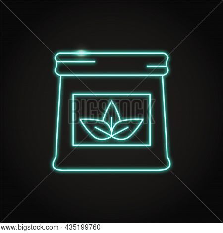 Neon Pack Of Fertilizer Icon In Line Style