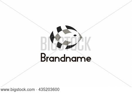 Digital Fish Logo Design Concept. Modern Simple And Unique Logo Design.