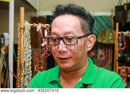 Jakarta, Indonesia - April 22, 2010: Robby Tumewu Is An Indonesian Actor, Singer, And Fashion Design
