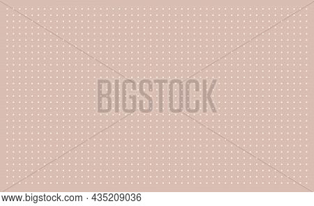 Grid Paper. Dotted Grid On Beige Background. Abstract Dotted Transparent Illustration With Dots. Col