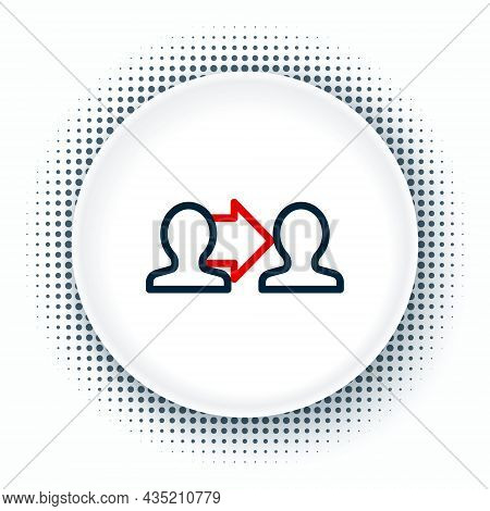 Line Project Team Base Icon Isolated On White Background. Business Analysis And Planning, Consulting