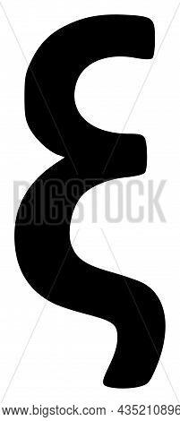 Xi Greek Lowercase Symbol Icon With Flat Style. Isolated Vector Xi Greek Lowercase Symbol Icon Illus