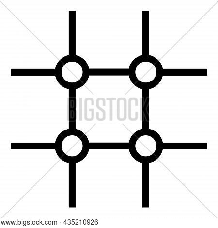 Incomplete Square Grid Icon With Flat Style. Isolated Vector Incomplete Square Grid Icon Illustratio