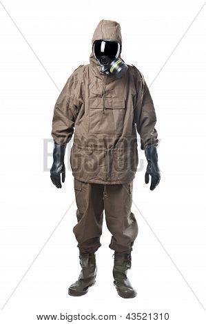 Man In Hazard Suit
