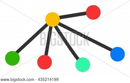 Links Icon With Flat Style. Isolated Vector Links Icon Illustrations, Simple Style.
