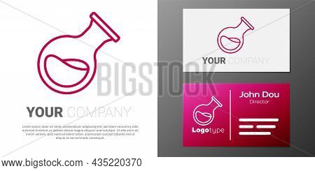 Logotype Line Test Tube And Flask Chemical Laboratory Test Icon Isolated On White Background. Labora