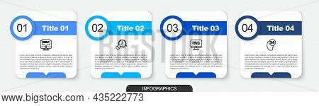 Set Line Computer Monitor And Help, Information, Faq And Support Operator In Touch. Business Infogra