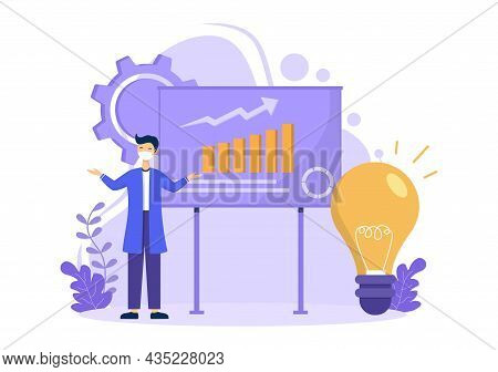 Ecological Sustainable Energy Supply Background Vector Flat Illustration Power Plant Station Buildin