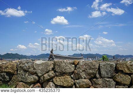 Aerial View Of Himeji City, Japan