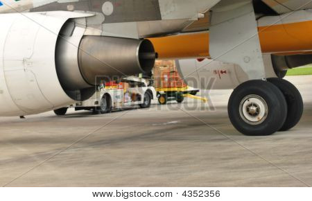 Jet Engine And Wheel