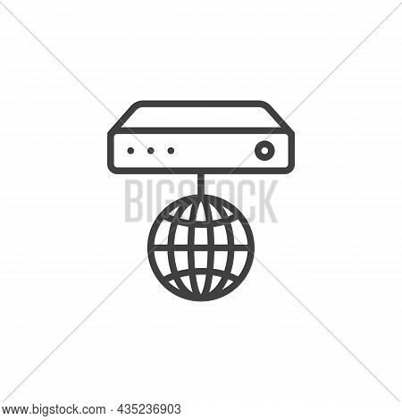 Internet Router Line Icon. Linear Style Sign For Mobile Concept And Web Design. Wifi Router Outline