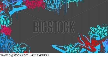 Colorful Abstract Hip Hop Street Art Graffiti Style Urban Calligraphy