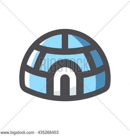 Igloo Ice Home Vector Icon Cartoon Illustration
