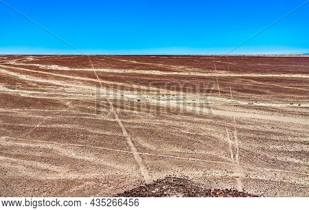 Lines And Geoglyphs Of Nasca. Unesco World Heritage In Peru