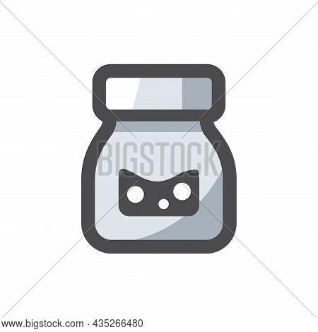 Ink Bottle Simple Vector Icon Cartoon Illustration
