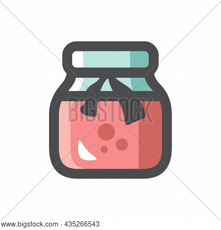 Jam Jar Simple Vector Icon Cartoon Illustration