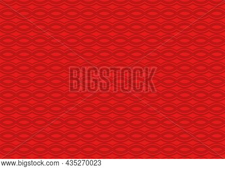 Red Seamless Texture With Intertwined Waved Lines - Repetitive Abstract Background Illustration For