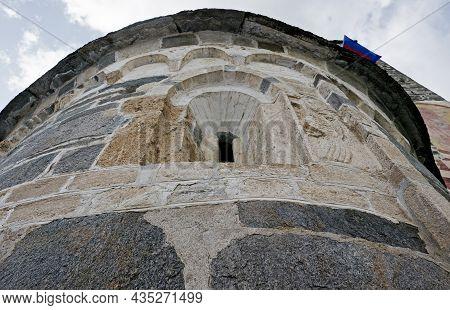 Romanesque Church San Carlo Valle Di Blenio Negrentino Ticino Switzerland